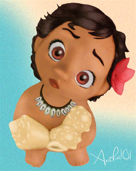 baby clip on fan baby moana fan colored by avitha101 on deviantart