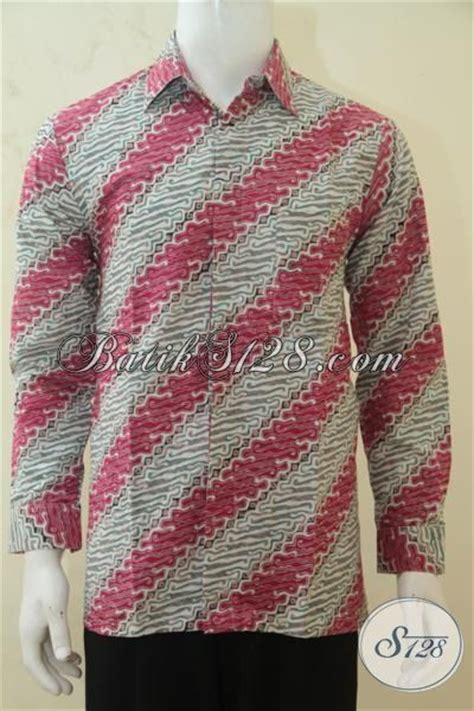 Baju Panjang Abu Abu Motif hem batik warna kombinasi merah dan abu abu busana batik