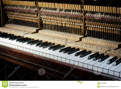 inside of a inside of the piano stock photo image of felt adjusting 34799682