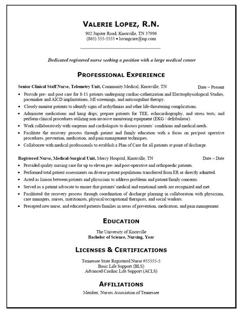 sample resume for registered nurse takenosumi com