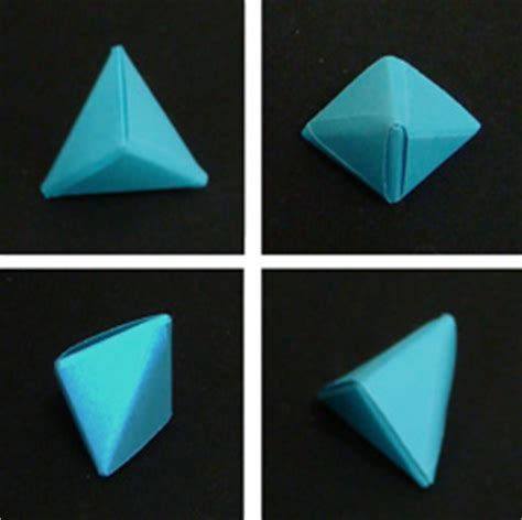 Paper Folding Geometric Shapes - trigonal bipyramid folding