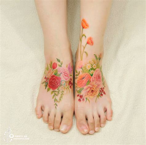 tattoo flower artist flower tattoos mimic watercolor paintings on skin bored