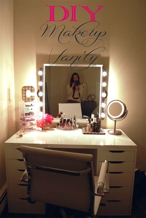 Vanities For Bedroom With Lights Diy Makeup Vanity Made2style