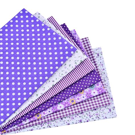 Patchwork Bundles - free shipping 7pieces 50 50cm purple fabric cotton fabric