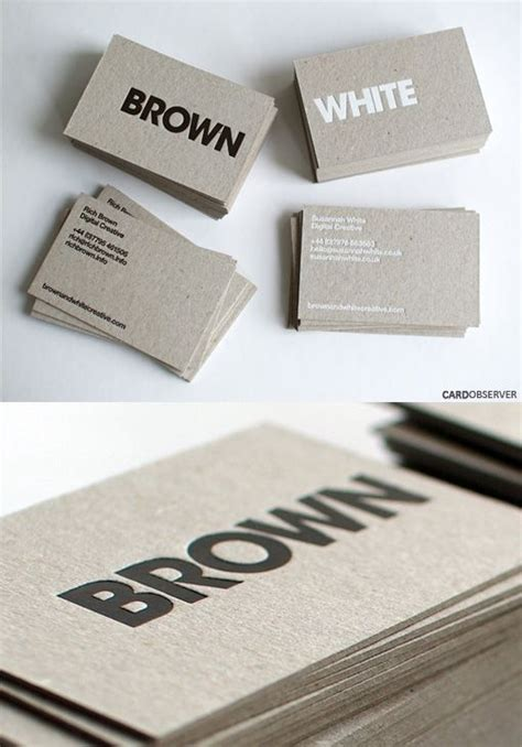Business Card Cardstock