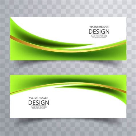 design banner green green banner vectors photos and psd files free download
