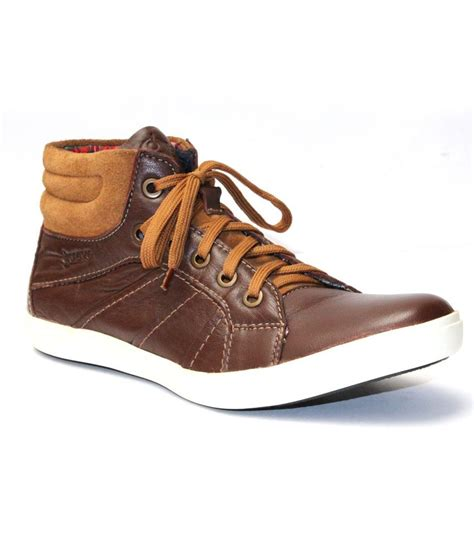 D Island Shoes Casual Leather Brown guava brown leather casual shoe buy guava brown leather casual shoe at best prices in
