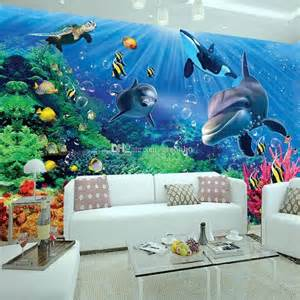 Wall Art Murals Wallpaper underwater wall mural wallpaper 4 mural design ideas