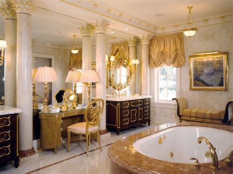 gold bathroom walls photos hgtv