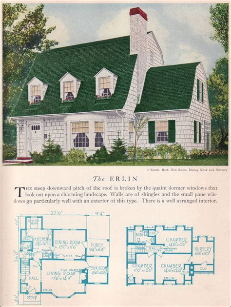 dutch colonial home plans erlin house plan vintage american architecture 1929