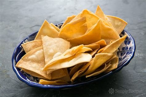 Handmade Crisps - how to make tortilla chips simplyrecipes