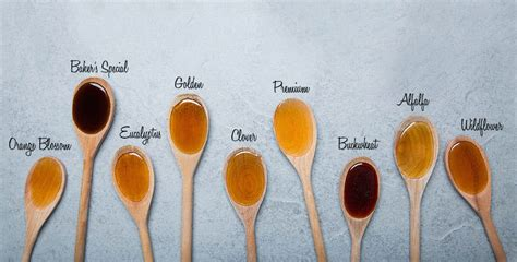 color of honey different types of honey honey varieties