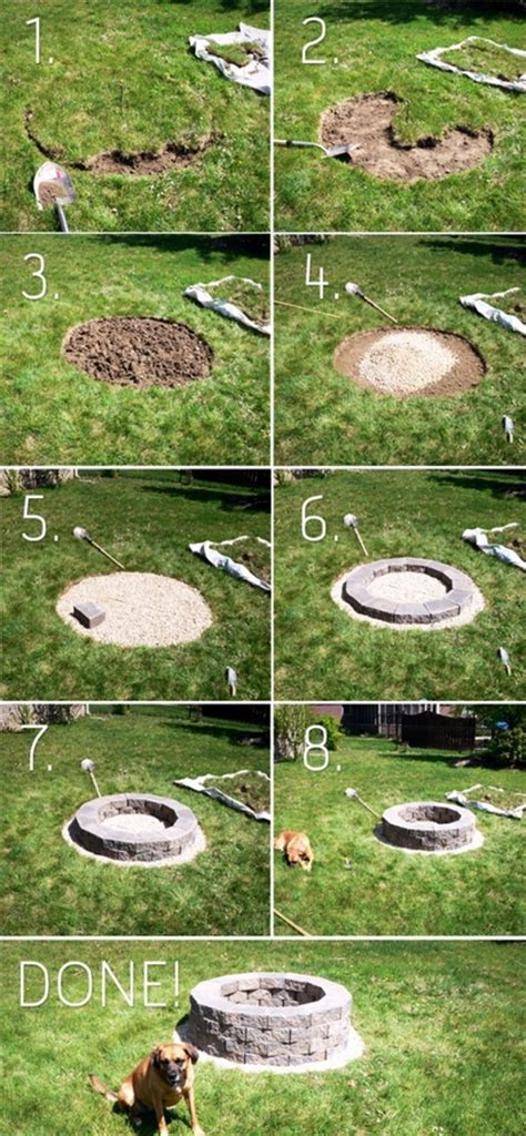 easy backyard fire pit easy diy backyard fire pit for summerapplepins com