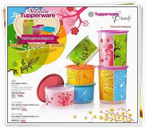 Tupperware Limited Edition madam tupperware tupperware one touch four season set