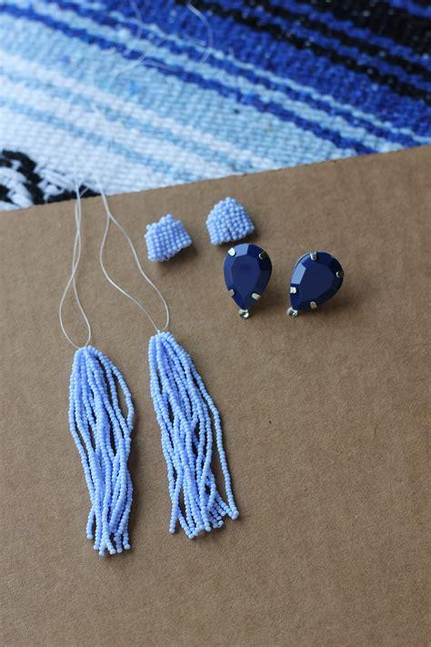 diy beaded earrings tutorial diy tassel earrings homemadebanana