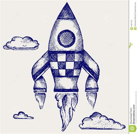 doodle how to make rocket retro rocket stock photography image 31877732