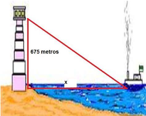 desde un barco un observador determina problemas resueltos utilizando funciones trigonom 233 tricas