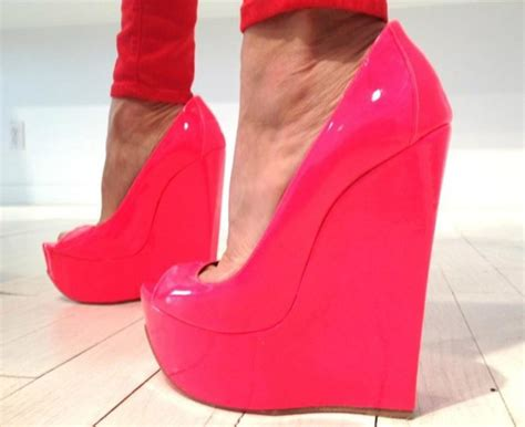 shoes pink wedges wheretoget