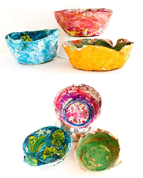 Paper Mache Things To Make - no monsters in my bed things to make paper mache bowls