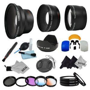 essential lens and filter kit for canon rebel (t3i t3 t2