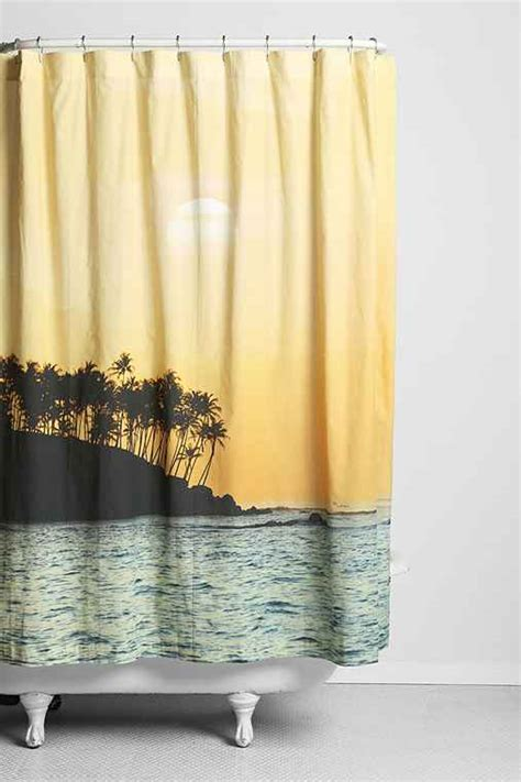 beachy shower curtain magical thinking sunset beach shower curtain