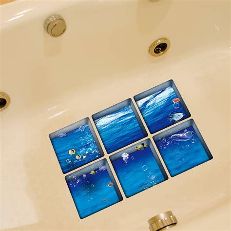 anti slip bathtub stickers pag 6pcs 13x13cm ocean pattern 3d anti slip waterproof
