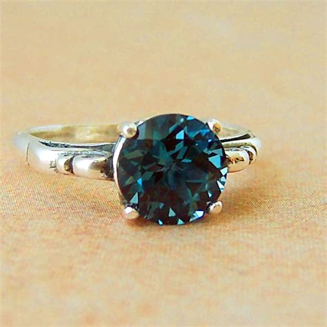 2ct blue topaz sterling silver ring by