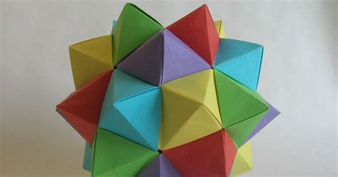 Origami Lesser Stellated Dodecahedron Meenakshi Mukerji - nicolae ene origami compound of five octahedra by