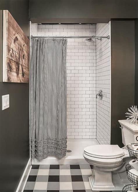 Walk In Shower Curtain Inspiration Best 25 Striped Shower Curtains Ideas On Grey Striped Curtains Fabric Shower
