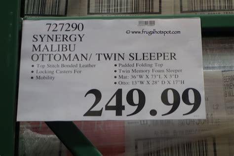 malibu ottoman twin sleeper costco synergy malibu twin sleeper ottoman frugal hotspot