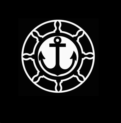 us customs sticker for boat boat wheel and anchor decal sticker custom sticker shop