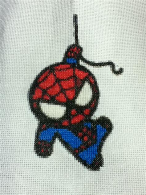 spiderman needlepoint pattern chibi spiderman cross stitch by twilightimp626 on deviantart