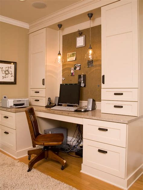 Built In Computer Desk Ideas Diy Home Office D 233 Cor