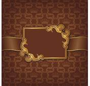 Golden Frame With Luxury Background 03  Vector