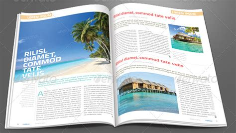 magazine ad template word 10 creative travel magazine templates for tourism