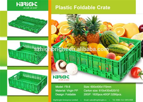 plastic fruit and vegetable crates plastic folding crate fruit and vegetable crate buy
