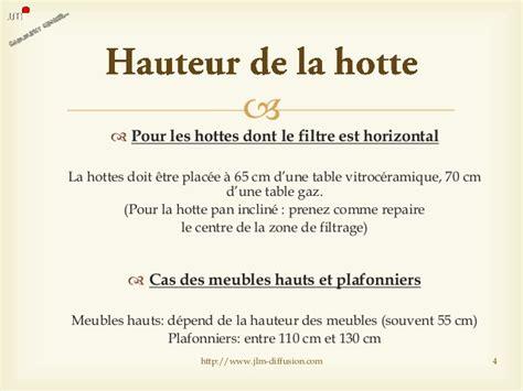 Hauteur De Hotte Dans Une Cuisine by Comment Choisir Une Hotte De Cuisine