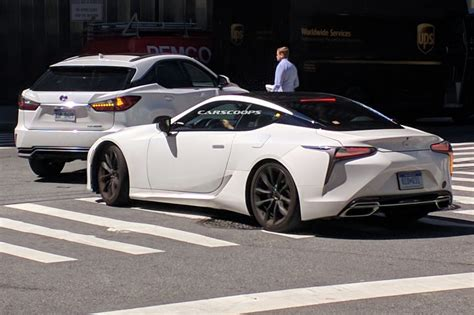 lexus lf lc white lexus lc500 strangely snapped on york s streets before