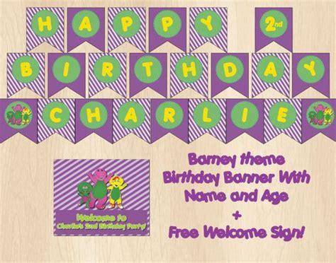 printable barney birthday banner barney birthday banner diy printable by