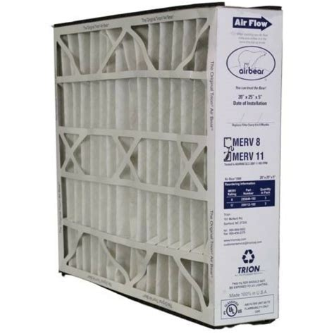 trion air 259112 102 pleated furnace air filter 20x25x5 merv11 genuine ebay