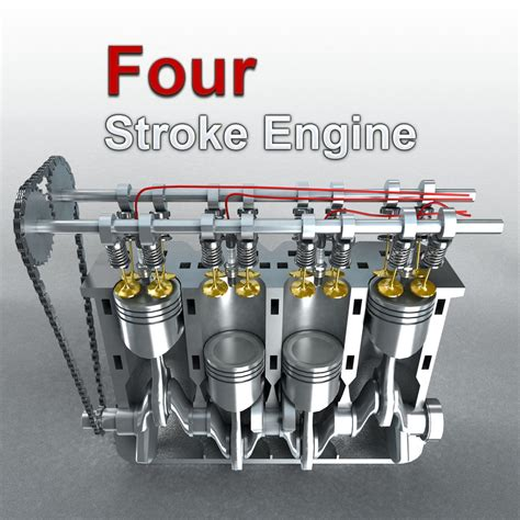 animated 4 stroke engine cycle how does a 4 stroke engine work mechstuff