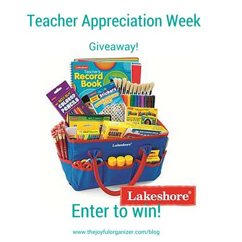 Free Giveaways For Teachers - teacher appreciation giveaway the joyful organizer