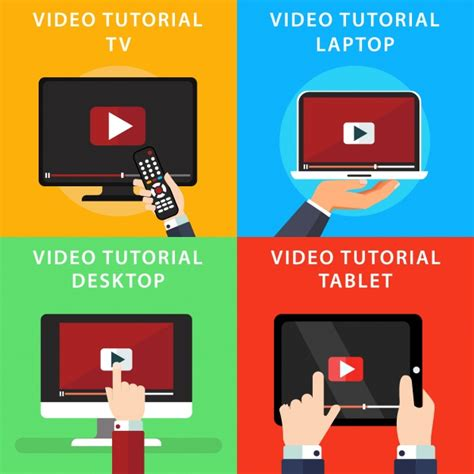 tutorial on vector video tutorials on different devides vector free download