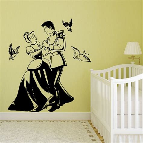 cinderella wall stickers cinderella and prince charming vinyl wall decal
