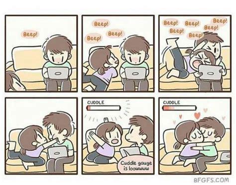 Couples Sleeping Meme - cuddle gauge is lowwww expansores