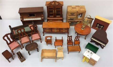 doll house chairs vintage dollhouse furniture lot doll house kit wood set miniature accessories what s