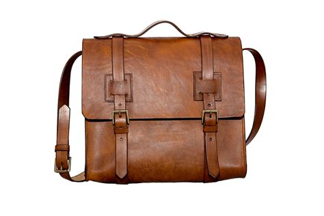 Handmade Leather Satchels - leather satchel in light brown dyed veg leather