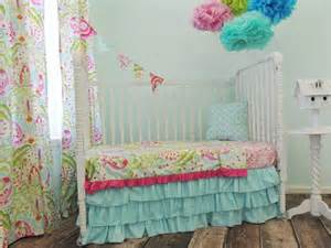 Pink And Yellow Baby Bedding Sets Aqua Pink Yellow And Green Toddler Bedding Set With