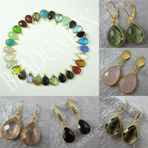 make gemstone jewelry jewelry kit gemstone pendant and earwire gold plated