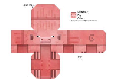 pig cube papercraft  lockrikard  deviantart